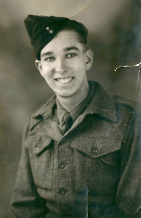 Eric, during army service; late 1940s