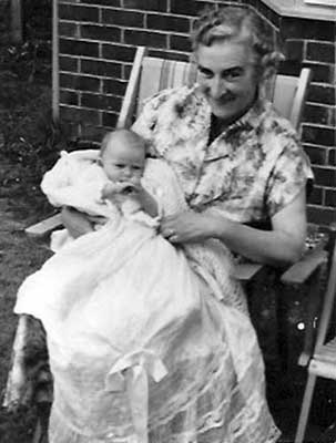 Lucy Gray with Grandson, Stephen